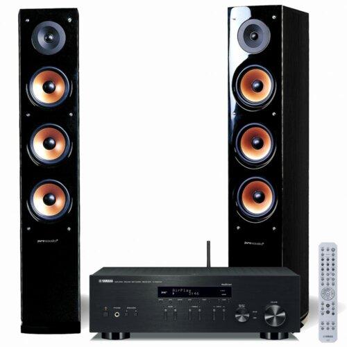 Zestaw stereo YAMAHA R-N303D + PURE ACUSTIC Nova 8 Czarny