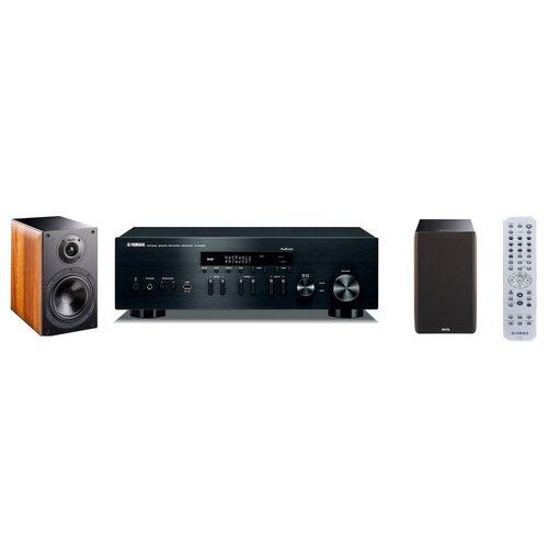Zestaw stereo YAMAHA MusicCast R-N402D Czarny + INDIANA LINE Nota 260X Orzech