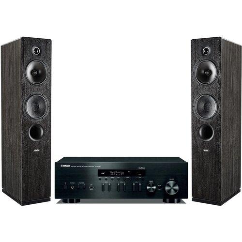 Zestaw stereo YAMAHA R-N402D BL + INDIANA LINE Tesi 561 Czarny