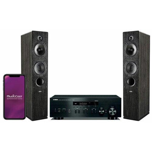 Zestaw stereo YAMAHA MusicCast R-N402D Czarny + INDIANA LINE Tesi 561 Czarny