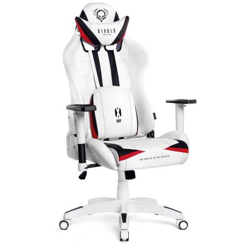Fotel DIABLO X-Ray L Biało-czarny