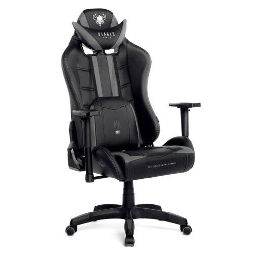 Fotel DIABLO X-Ray L Czarno-szary