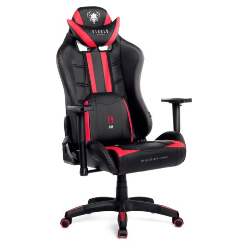 Fotel DIABLO X-Ray L Czarno-czerwony