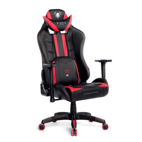 Fotel DIABLO X-Ray XL Czarno-czerwony