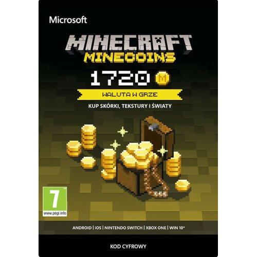 Kod aktywacyjny MICROSOFT Minecraft Minecoins 1720 monet