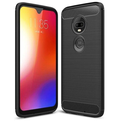 Etui TECH-PROTECT TPUCarbon do Motorola Moto G7 Power Czarny