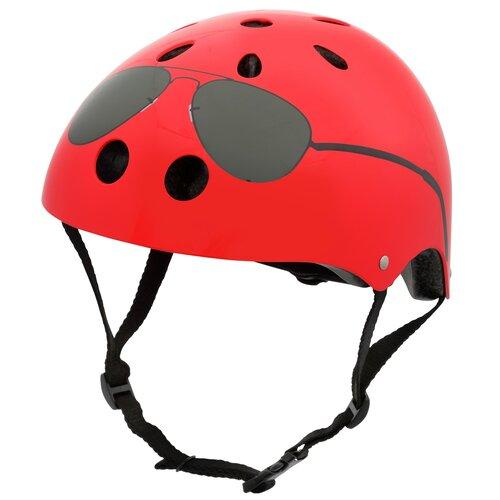 Kask rowerowy HORNIT Aviators Czerwony-czarny dla Dzieci (rozmiar M)