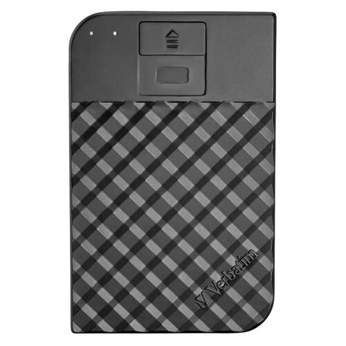 Dysk VERBATIM Fingerprint Secure 2TB HDD Czarny