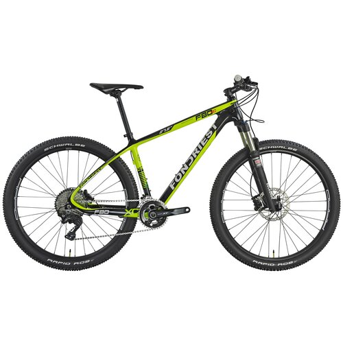 Rower górski MTB FONDRIEST F80 M15 27.5 cala męski Czarno-zielony