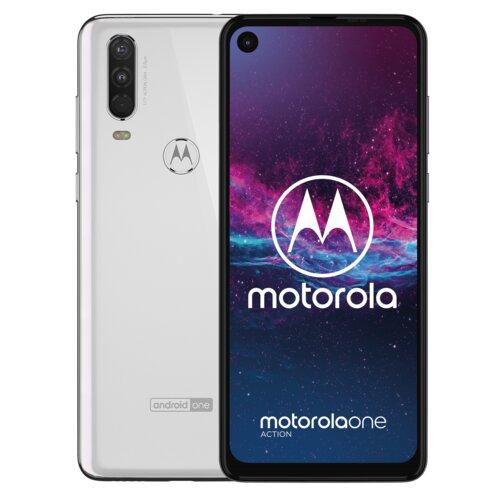 "Smartfon MOTOROLA One Action 4/128GB 6.3"" Biały PAFY0006PL"