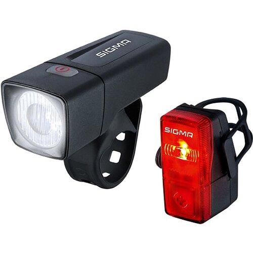 Zestaw lampek rowerowych SIGMA Aura 25 + Cubic