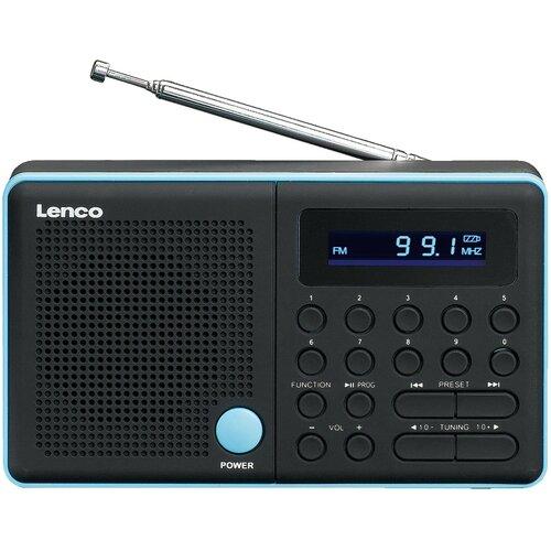 Radio LENCO MPR-034BU Czarno-niebieski