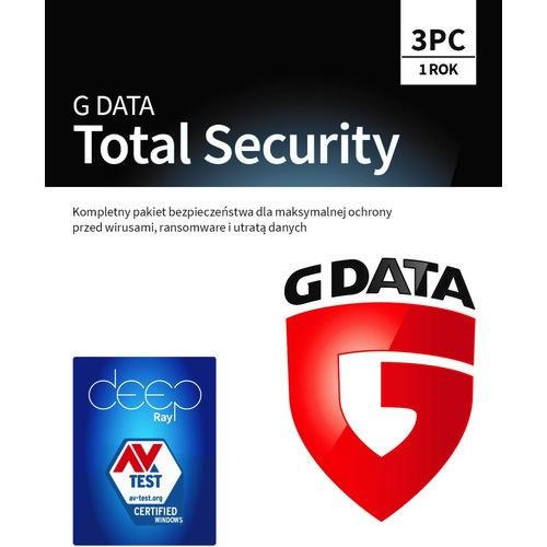 Antywirus G DATA Total Security 3 URZĄDZENIA 1 ROK Kod aktywacyjny