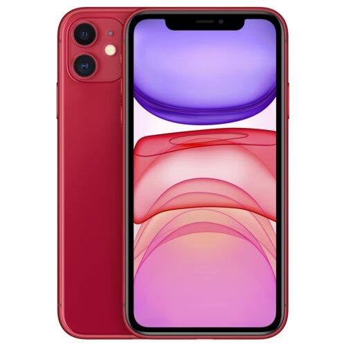 """Smartfon APPLE iPhone 11 128GB 6.1"""" Czerwony MWM32PM/A + Ładowarka i słuchawki"""