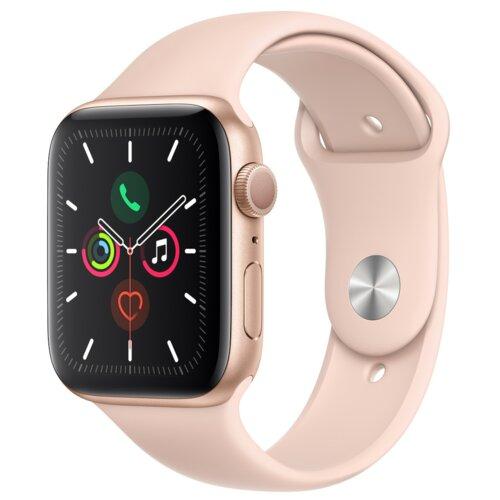 APPLE Watch 5 40mm (Złoty z opaską sportową w kolorze różowym)