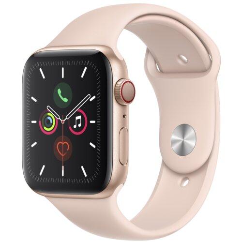 APPLE Watch 5 Cellular 44mm (Złoty z opaską sportową w kolorze różowym)
