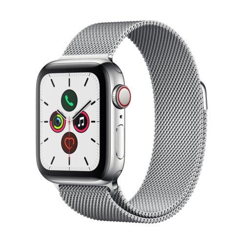 APPLE Watch 5 Cellular 40mm (Srebrny z opaską mediolańską w kolorze srebrnym)