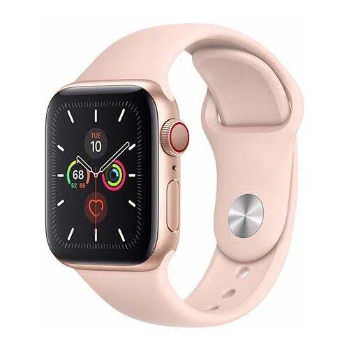 APPLE Watch 5 Cellular 40mm (Złoty z opaską sportową w kolorze różowym)