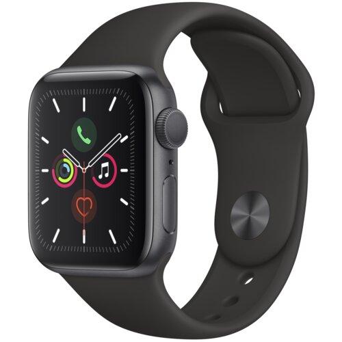 APPLE Watch 5 Cellular 40mm (Gwiezdna czerń z opaską sportową w kolorze czarnym)