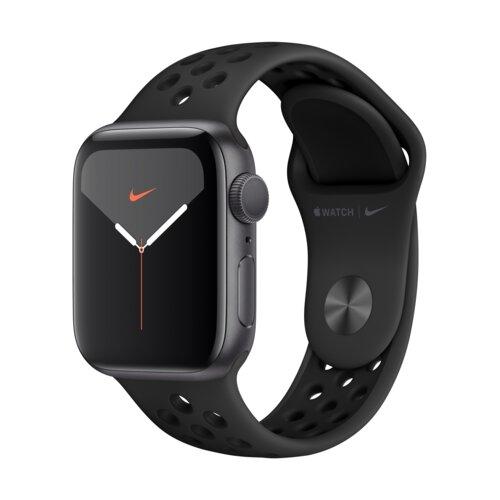 APPLE Watch 5 Cellular Nike+ 40mm (Gwiezdna szarość z opaską sportową w kolorze czarnym)