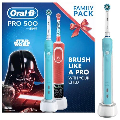 Szczoteczka rotacyjna ORAL-B PRO 500 + D100 Kids Star Wars