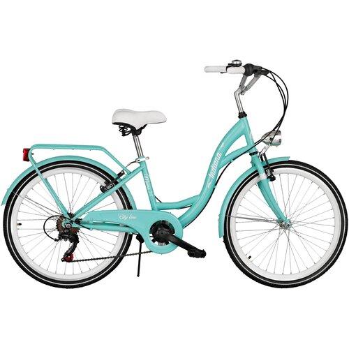 Rower młodzieżowy INDIANA Moena 24 cale dla dziewczynki Lazurowy
