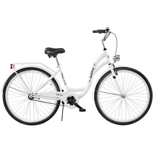 Rower miejski INDIANA Moena S1B 28 cali damski Biały