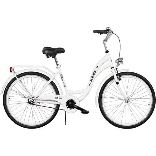 Rower miejski INDIANA Moena S1B 26 cali damski Biały