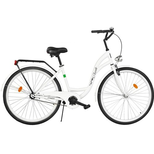 Rower miejski DAWSTAR Retro S1B 28 cali damski Biały