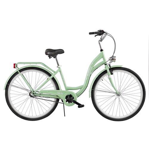 Rower miejski INDIANA Moena S3B 28 cali damski Miętowy
