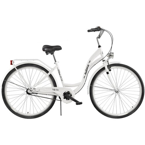 Rower miejski INDIANA Moena S3B 28 cali damski Biały