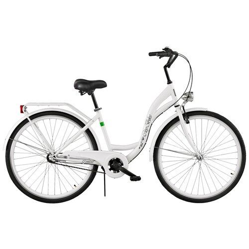 Rower miejski DAWSTAR Citybike S3B 28 cali damski Biały