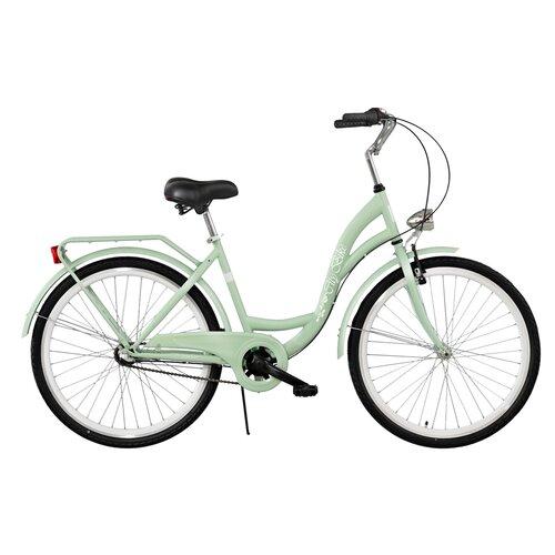 Rower miejski DAWSTAR Citybike S3B 26 cali damski Miętowy