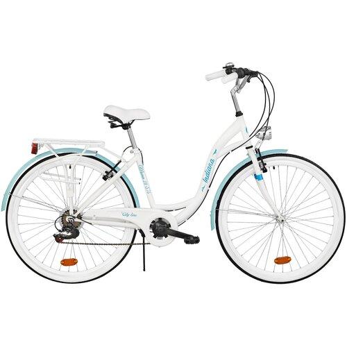 Rower miejski INDIANA Moena S7B 28 cali damski Biały Lazur
