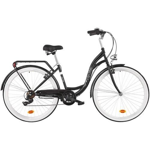 Rower miejski DAWSTAR Citybike S7B 28 cali damski Czarny