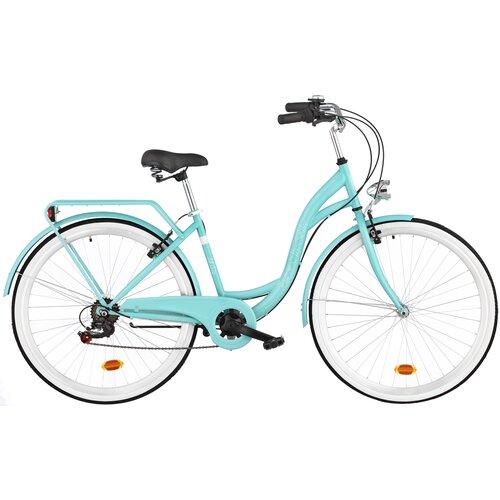 Rower miejski DAWSTAR Citybike S7B 28 cali damski Lazurowy