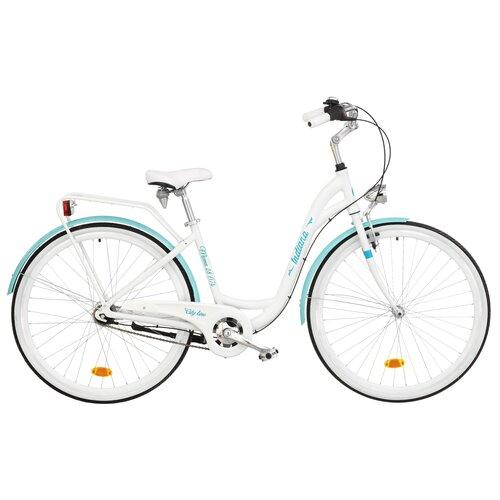 Rower miejski INDIANA Moena A7B 28 cali damski Biało-lazurowy