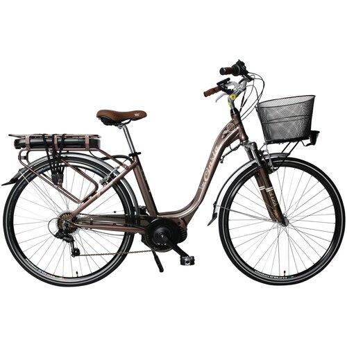 Rower elektryczny CINZIA Sfera D18 28 cali damski Brązowy