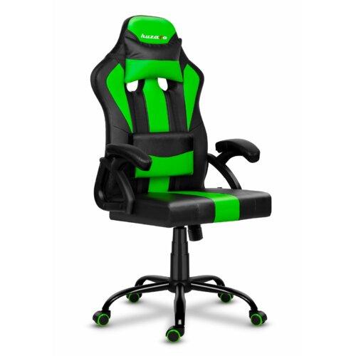 Fotel HUZARO Force 3.0 Czarno-zielony