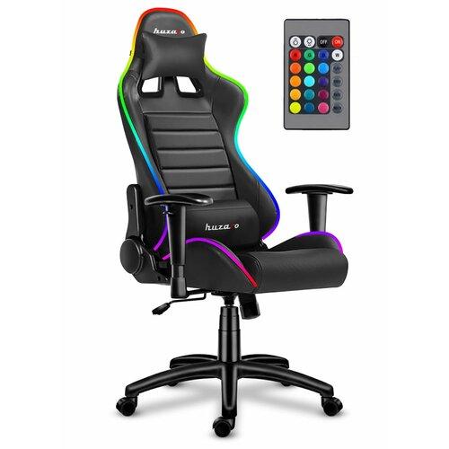 Fotel gamingowy HUZARO Force 6.0 RGB Led Czarny