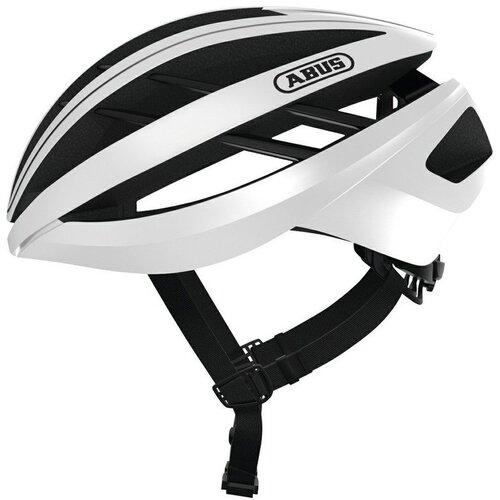Kask rowerowy ABUS Aventor Biały Szosowy (rozmiar L)