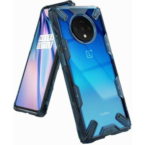 Etui RINGKE Fusion X do OnePlus 7T Przezroczysto-niebieski
