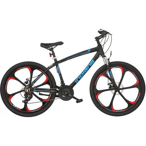 Rower górski MTB INDIANA X-Rock 3.6 M18 26 cali męski Czarno-niebieski