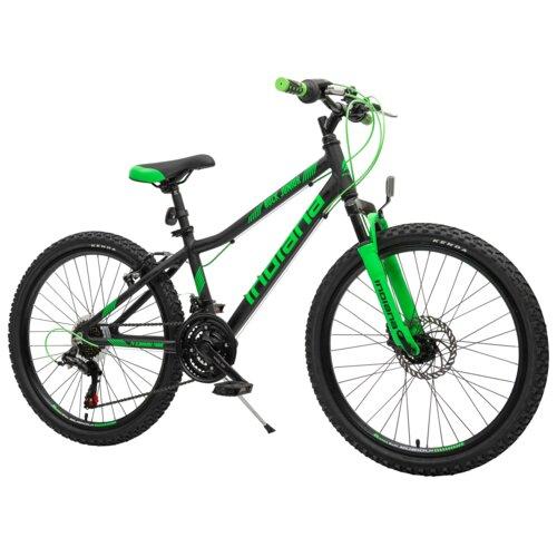 Rower młodzieżowy INDIANA Rock Jr 24 cale dla chłopca Czarno-zielony