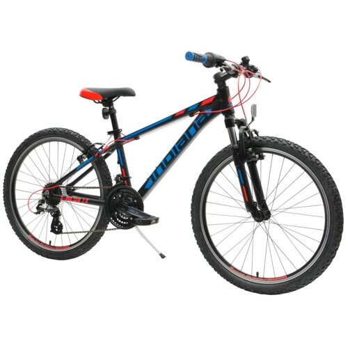 Rower młodzieżowy INDIANA X-Pulser 2.424 cale dla chłopca Czarno-niebieski
