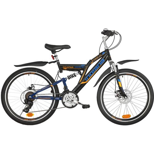 Rower młodzieżowy INDIANA X-Rock 1.424 cale dla chłopca Czarno-niebieski