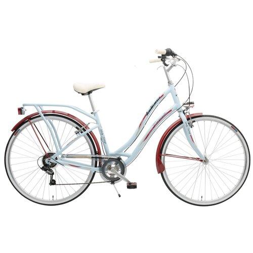 Rower miejski INDIANA Carosello 6B 28 cali damski Niebieski