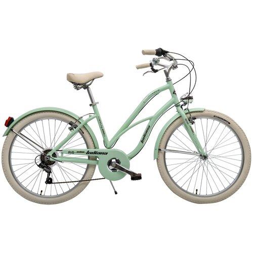 Rower miejski INDIANA Moody 6B26 cali damski Zielony