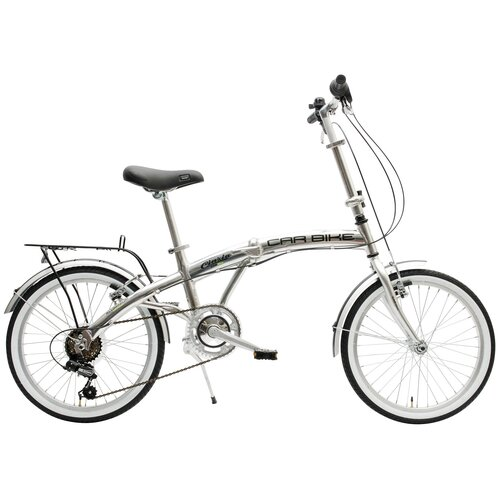 Rower miejski CINZIA Car Bike 6B 20 cali męski Srebrny