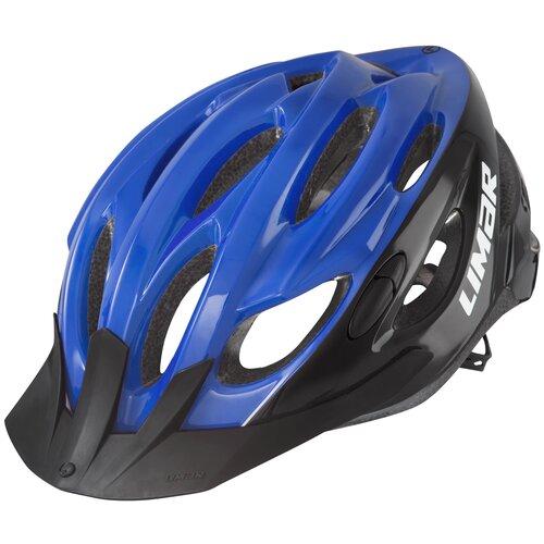 Kask rowerowy LIMAR Scrambler Czarno-niebieski Miejski (rozmiar L)